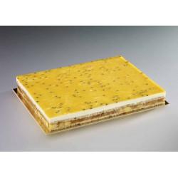 Plancha de chocolate blanco y maracuya