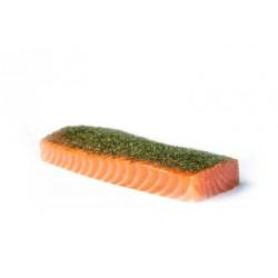 Lomo de salmón ahumado con eneldo