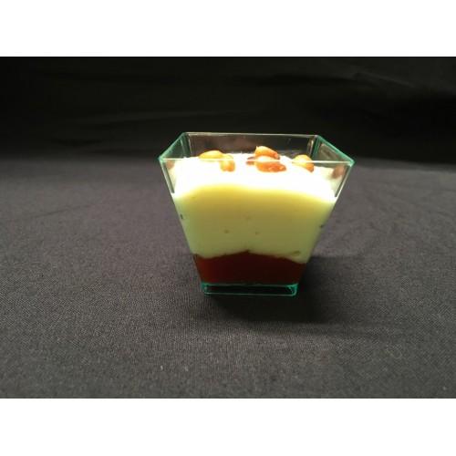 Vasito de foie con frutas tropicales 40 gr.