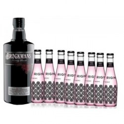 PACK GIN BROCKMANS Y TÓNICAS ORIGINAL PINK